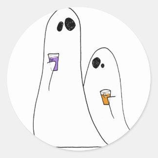 Fantômes Autocollant Rond