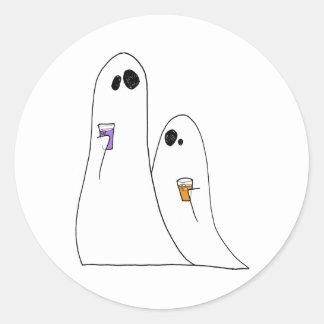 Fantômes Adhésif Rond