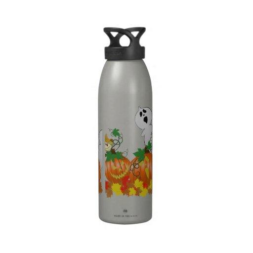 Fantômes drôles et éffrayants de Halloween Bouteille D'eau