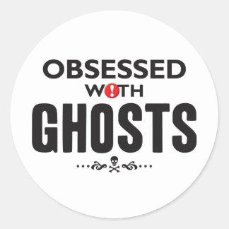 Fantômes hantés adhésifs ronds