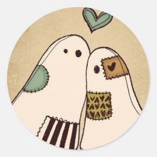 fantômes heureux de Halloween Sticker Rond