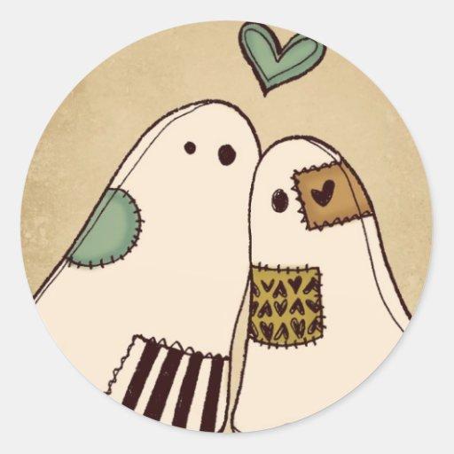fantômes heureux de Halloween Autocollant Rond