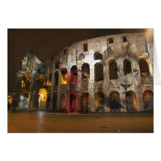Fantômes romains de Colisé Carte De Vœux