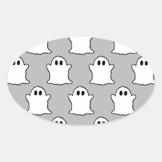Fantômes Sticker Ovale