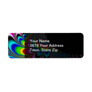 Fanyc - Mandelbrot Fractal Art Return Address Label