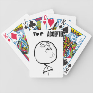 fap accepted bicycle playing cards