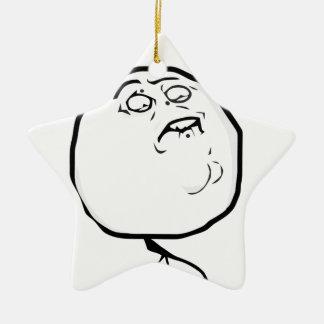 fap accepted ceramic star ornament