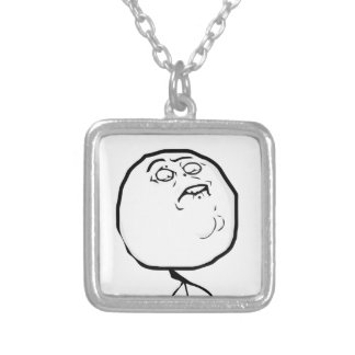 fap accepted silver plated necklace