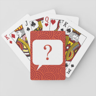 Faq Questions Graphic Playing Cards