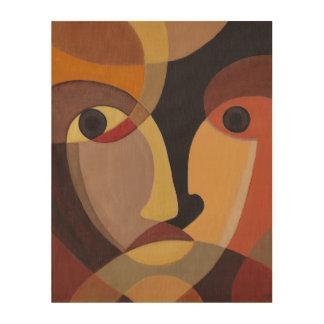 Far Away Face (11X14) Wood Canvas