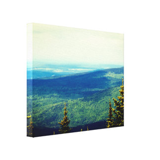 Far Away Town Landscape Canvas Print
