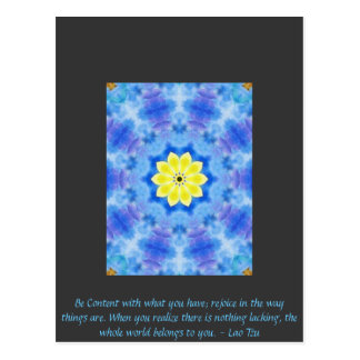 Far Eastern Inspired Art with Lao Tzu Life Quote Postcard