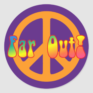 Far Out! Classic Round Sticker