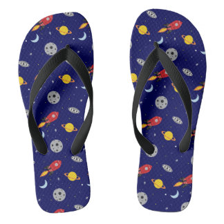 Far Out Cosmic Plaid Patern from Space Flip Flops