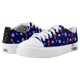 Far Out Cosmic Plaid Patern from Space Low-Top Sneakers