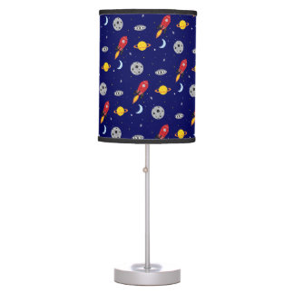 Far Out Cosmic Plaid Patern from Space Table Lamp
