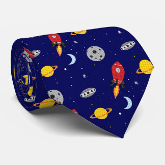 Far Out Cosmic Plaid Patern from Space Tie