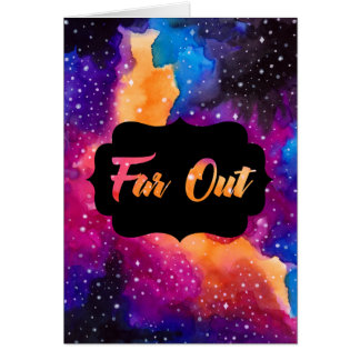 Far Out Cosmic Sky Congratulations Card