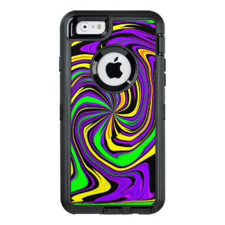 Far-out Funky Psychedelic Wet Paint Swirl Pattern OtterBox Defender iPhone Case