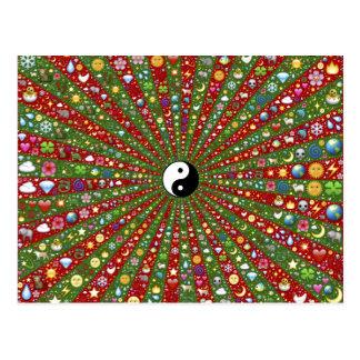 Far Out Hippie Yin Tang Postcard