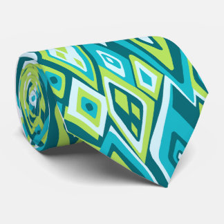 Far Out Retro Abstract Single-side Printed Tie