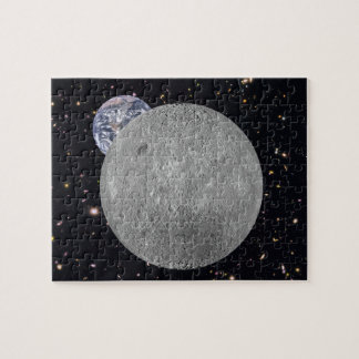 Far Side of the Moon Earth Starry Sky Jigsaw Puzzle