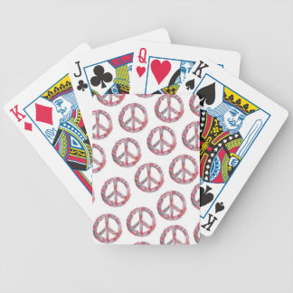 Far Too Pretty Floral Peace Symbols Bicycle Playing Cards