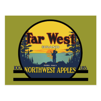 Far West Apples Postcard