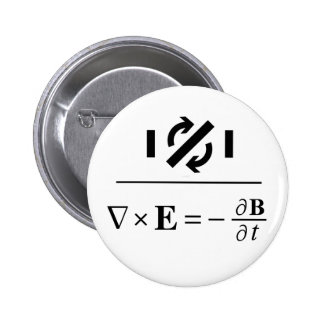 Faraday's Law 2 Inch Round Button