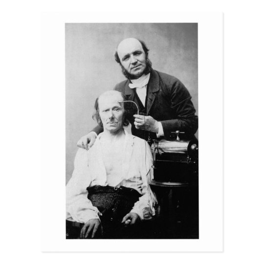 Faradisation du muscle frontal 1862 postcard