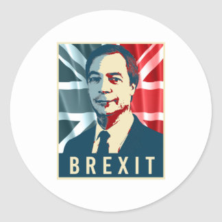 Farage Brexit Poster - -  Round Sticker