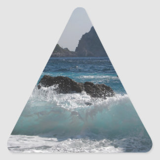 Faraglioni Rock formation on island Capri Triangle Sticker