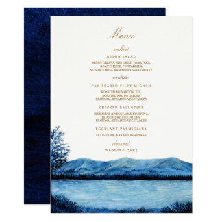 """Faraway / Menu 4.5"""" X 6.25"""" Invitation Card"""