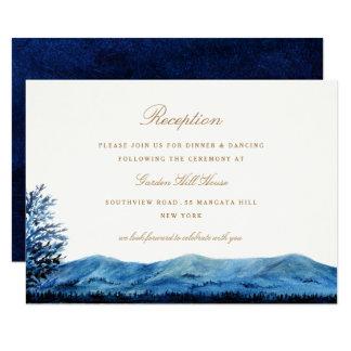 "Faraway / Reception 3.5"" X 5"" Invitation Card"