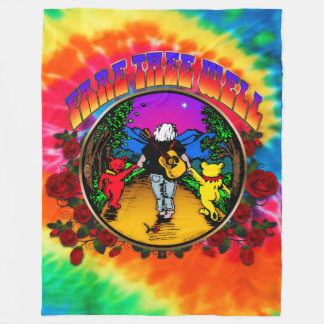 FARE THEE WELL - ROSES - Tie Dye Blanket- 001 Fleece Blanket