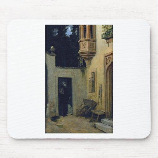 Farewell at Dawn 1859 by Moritz von Schwind Mousepads
