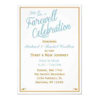 Farewell Celebration Going Away Invitation