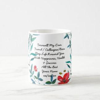 Farewell Gift Colleague Friend Boss Personalized 2 Coffee Mug