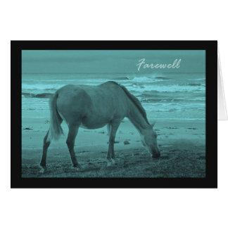 Farewell Good Bye Horse Near Lake Michigan Card