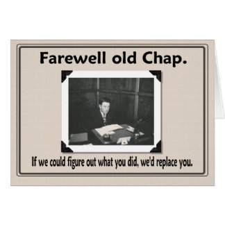 Farewell goodbye coworker card