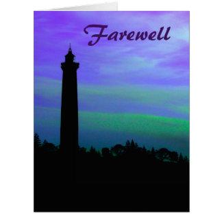 Farewell - Lighthouse at Dusk Card
