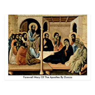 Farewell Mary Of The Apostles By Duccio Postcard