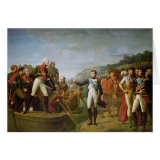 Farewell of Napoleon I  and Alexander I Card