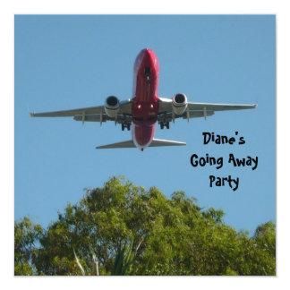 Farewell Party Invitation Plane Good Bye