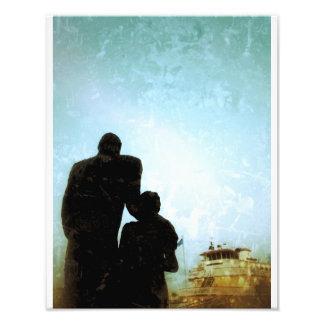 Farewell Statue Photographic Print