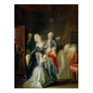 Farewell to Louis XVI by his Family Postcard