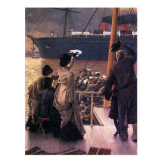 Farewell to the Mersey by James Tissot Postcard