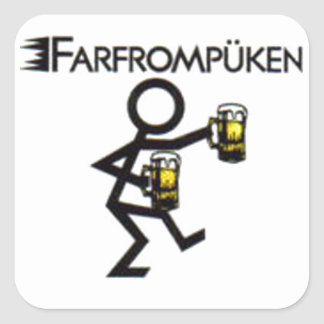 farfrompüken square sticker