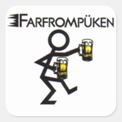 farfrompüken square stickers