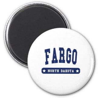 Fargo North Dakota College Style tee shirts 2 Inch Round Magnet
